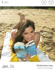 Girl reading at the beach