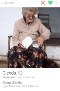 63 and tindering