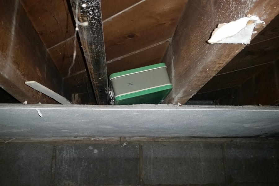 hidden box in the ceiling